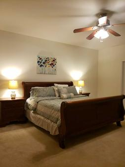 1 King Size Bed 2 Night Stands 1 Tall Drawer Chest Mattress