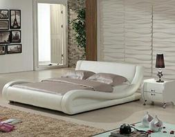 US Pride Furniture Dona Faux Leather Modern Bed California K