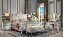 queen picardy antique pearl upholstered 6 piece